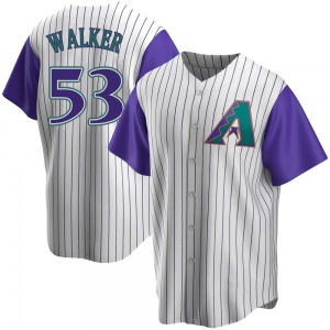 Youth Arizona Diamondbacks Christian Walker Replica Purple Cream/ Alternate Cooperstown Collection Jersey