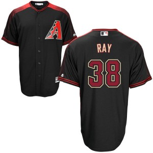 Men's Majestic Arizona Diamondbacks Robbie Ray Replica Black /Brick Cool Base Jersey